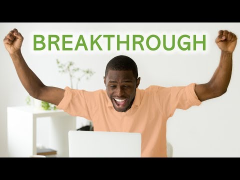 A SUDDEN BREAKTHROUGH (much sooner than expected!!!)