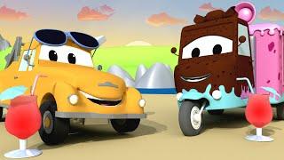 Конфетная машинка Кэри - Автомойка Эвакуатора Тома в Автомобильный Город 💧 детский мультфильм