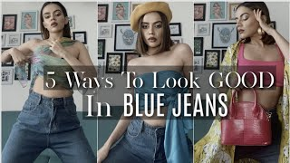 5 Ways To Style Your Blue Jeans(Out of BASICS) | Komal Pandey