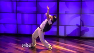 Crazy Dancing Tim Salaz Soulbotics Ellen Show (HD) 2012