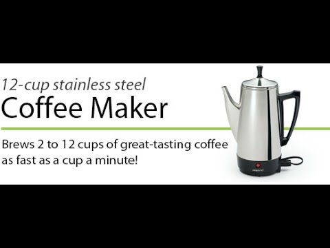 Review 12 Cup Percolator Coffee Maker Stainless Steel Presto 02811 Say Goodbye Keurig ;-) - YouTube