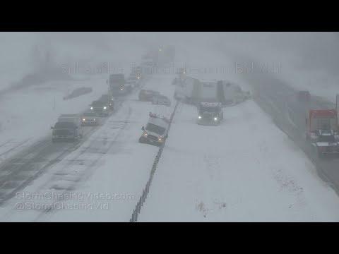 Faribault, MN Winter Storm, Wrecks and Interstate 35 Shut Down - 4/10/2019