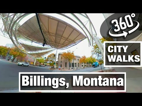 City Walks: Billings, Montana Virtual 360 Treadmill Walking Tour