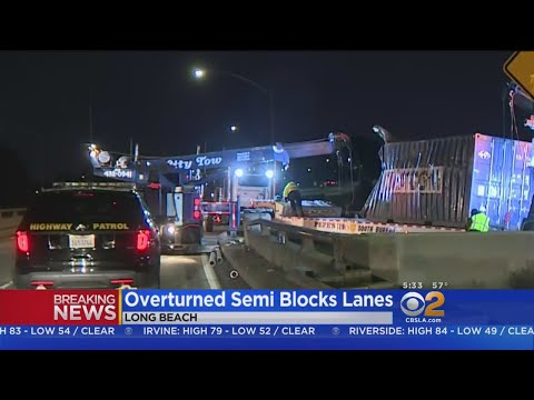 Big Rig Crash Shuts Down NB 710 Transition To SB 405 For Hours