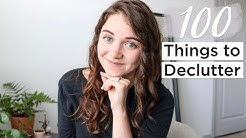 100 THINGS TO GET RID OF TODAY | minimalism & decluttering | part 1