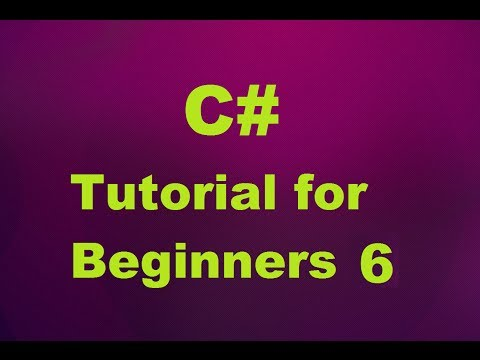 C# Tutorial for Beginners 6 - C# Arrays