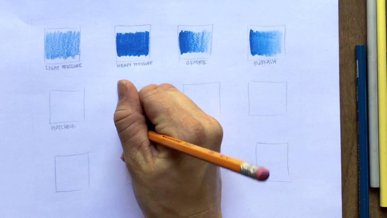 12 Simple Colored Pencil Techniques - YouTube