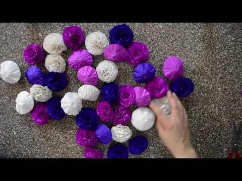 How to make Simple & Easy Tissue Paper Flowers - DIY Kite Paper Craft Ideas