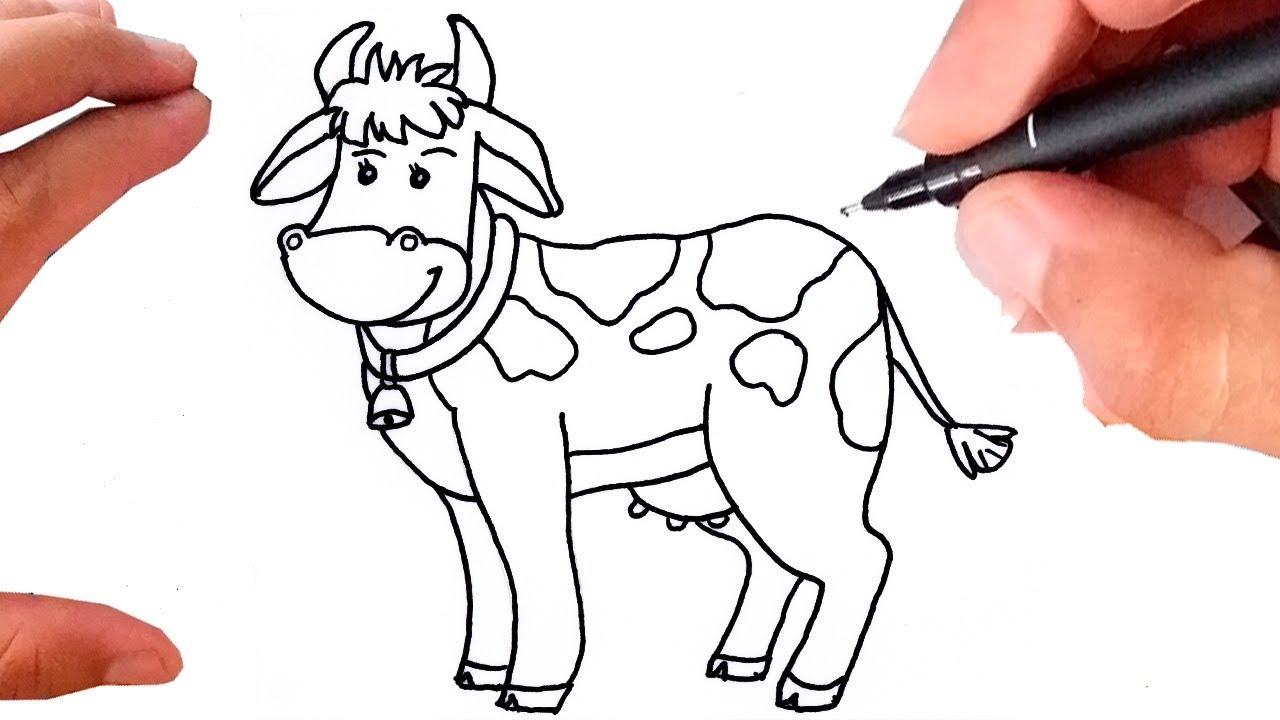 Como Desenhar Uma Vaca Super Facil Youtube