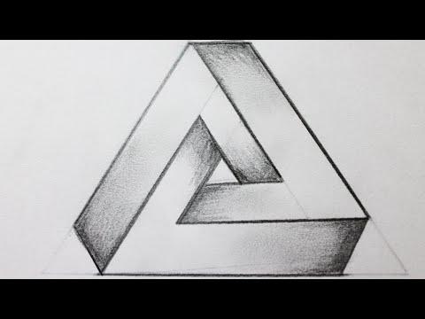 Como dibujar el triangulo imposible