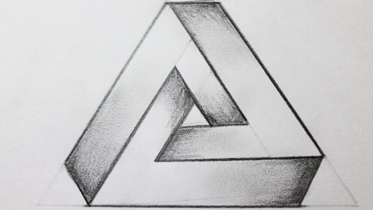 Como dibujar el triangulo imposible - YouTube