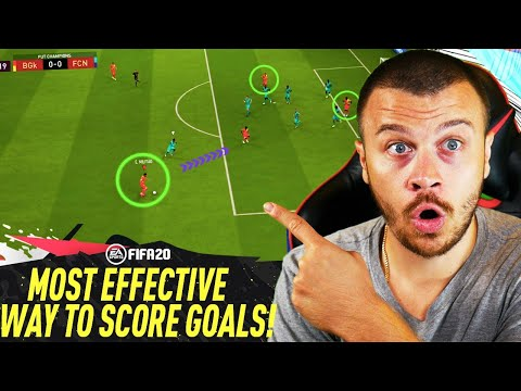 FIFA 20 TUTORIAL - THE ONLY EFFECTIVE TECHNIQUE TO SCORE MORE GOALS in ULTIMATE TEAM