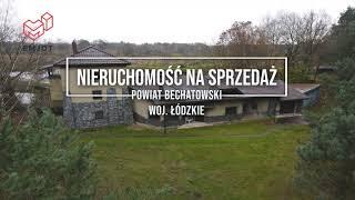Powiat Bełchatowski. Duża nieruchomość do sprzedania: dom, stawy, las.