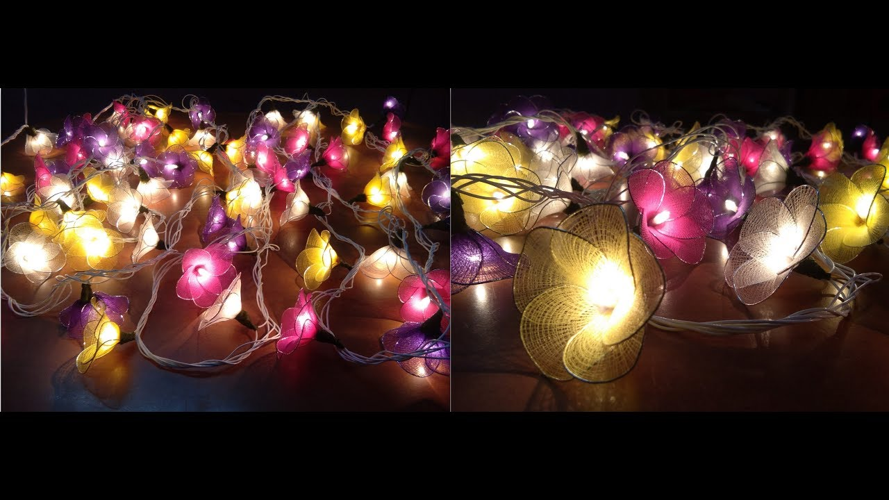 Diy Diwali Decoration Nylon Stocking Flower Light Set