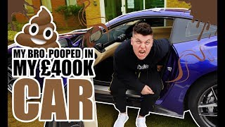 HE POOPED IN MY £400,000 FERRARI **PRANK!**