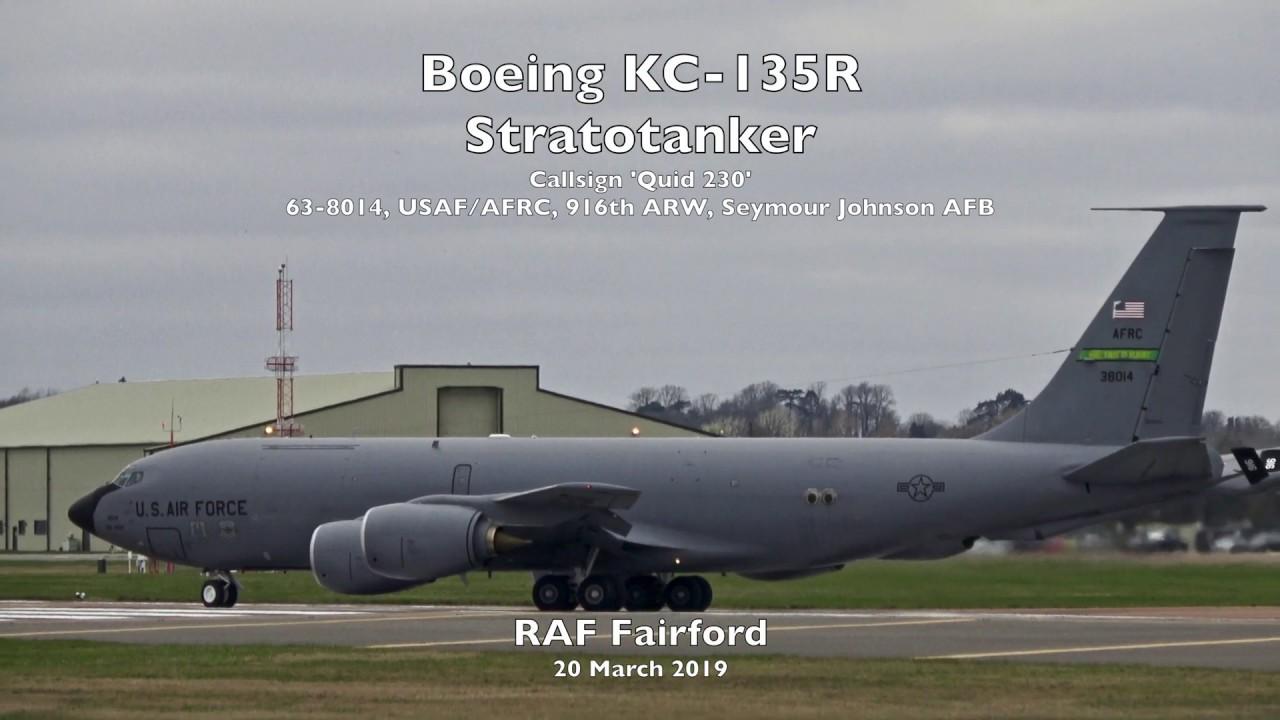 Boeing KC-135R Stratotanker departure - RAF Fairford