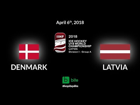 Denmark - Latvia, Ice Hockey U18 World Championship, 2018