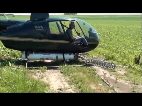Spectrum Sprayer's Electrostatic Aerial System: Helicopter Mounted Sprayer