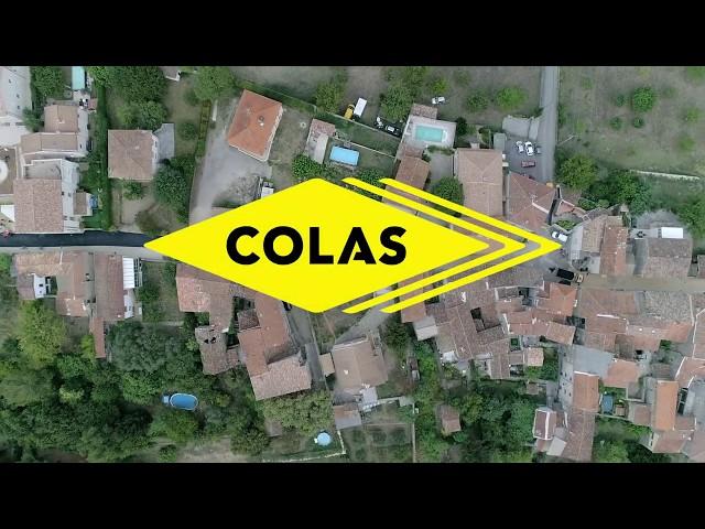 Colas, entreprise de travaux public en chantier à Branoux (Gard)