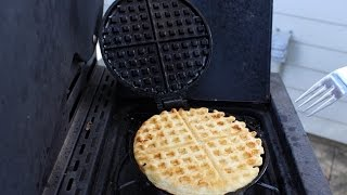 Seasoning Cast Iron Waffle Iron & Cooking Waffles