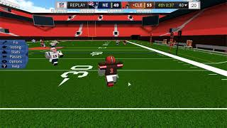 ROBLOX Football Game: Patriots @ Browns
