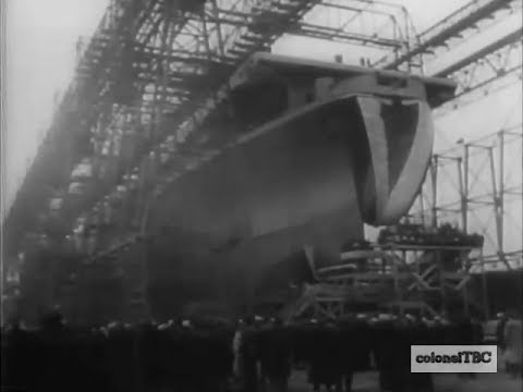 New aircraft carrier USS Shangri-La (CV-38) is launched - 24 February 1944