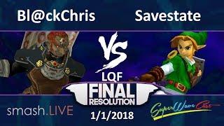 Final Resolution LQ - s.L   Savestate (Link) vs. Bl@ckChris (Ganondorf) thumbnail