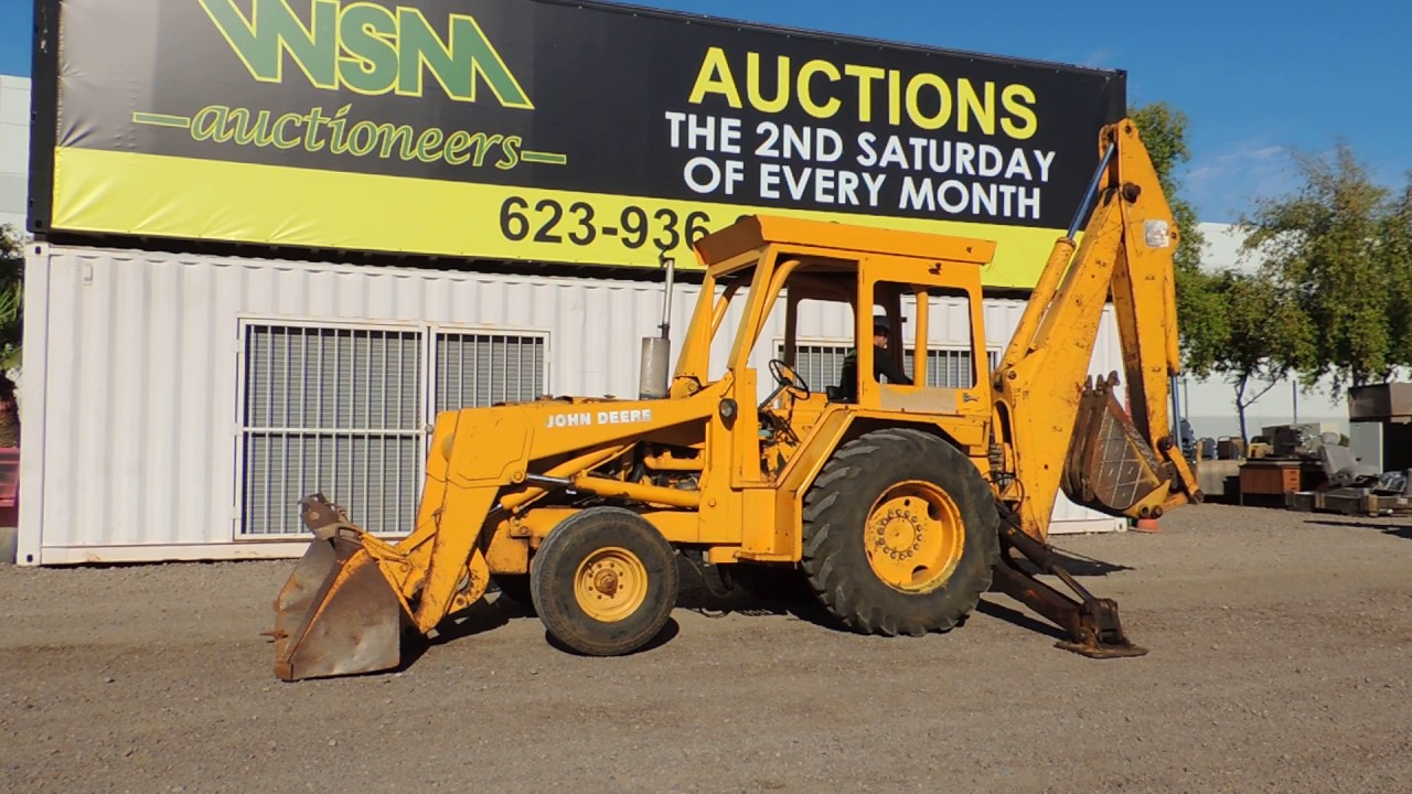 John Deere 510d 2 Wheel Drive Rubber Tire Backhoe At Public Auction