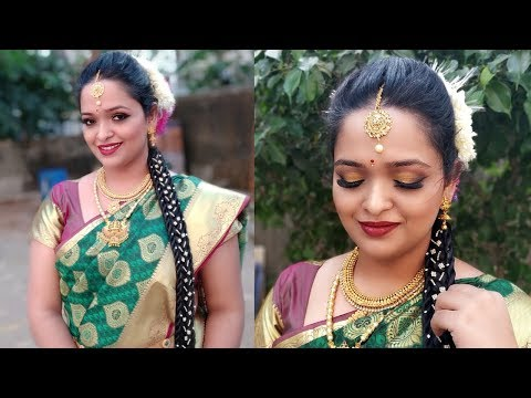South Indian Bridal Makeup and Hairstyle | Step by Step Tutorial thumbnail