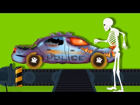 Scary Police Car Garage | Toy Factory | Halloween Special For Kids | Kids Videos