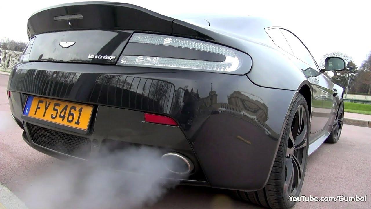 Aston Martin V12 Vantage Cold Engine Start Up Small Revs Youtube
