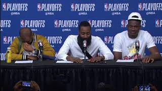 CP3, Harden & Capela Postgame Interview | Timberwolves vs Rockets - Game 5 | 2018 NBA Playoffs