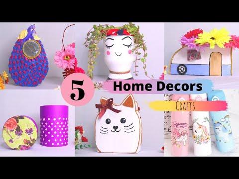 5 Easy Home Decors and Home Organizers idea /  DIY Handmade Cardboard Home Decors By Aloha Crafts