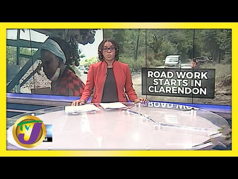 Road Work Starts in Clarendon, Jamaica | TVJ News - May 10 2021