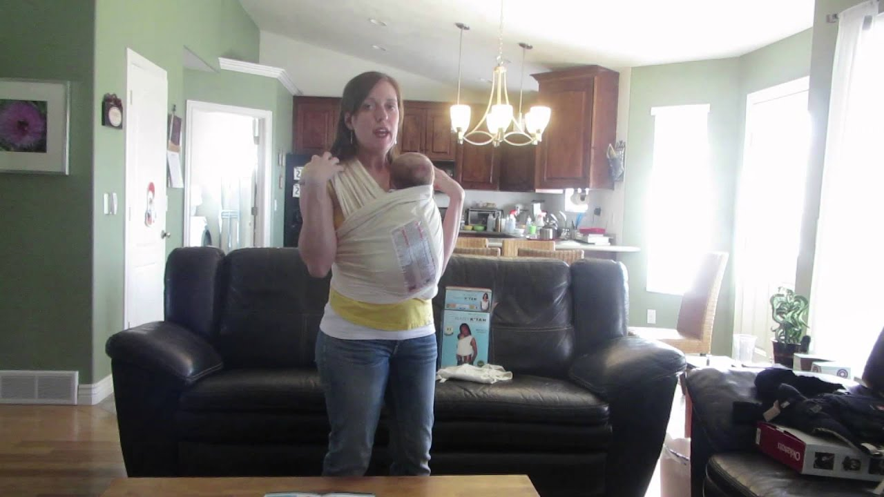 baby k'tan carrier review (with a newborn)  youtube -