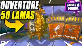 Opening of 50 Lamas Mega Pack Openning! Fortnite Saving the World
