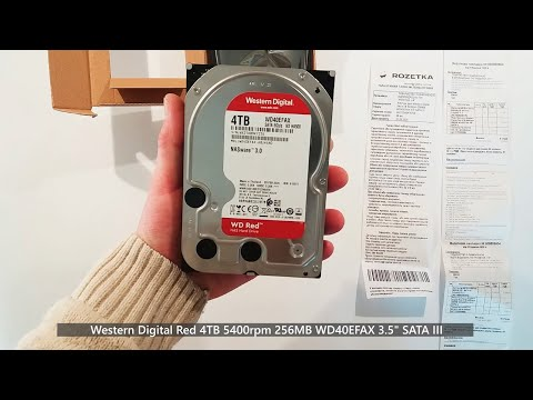 "Жорсткий диск Western Digital Red 4TB 5400rpm 256MB WD40EFAX 3.5"" SATA III"