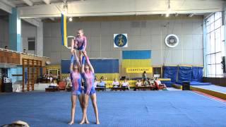 Спортивная акробатика Чемпионат Украины 2013 женская тройка(Спортивная акробатика Чемпионат Украины 2013 женская тройка acrobatic gymnastics women's group Ukraine., 2013-12-30T16:25:10.000Z)