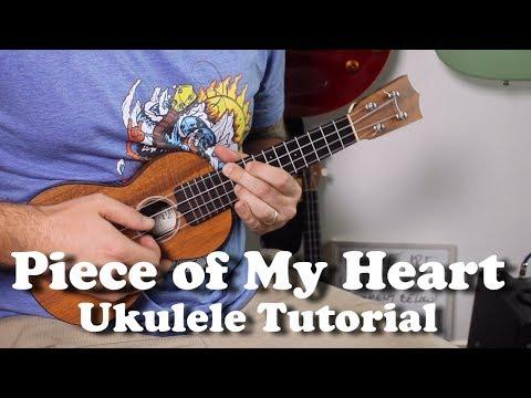 Piece of my Heart - Janis Joplin - Ukulele Tutorial with tabs, play-along, lyrics
