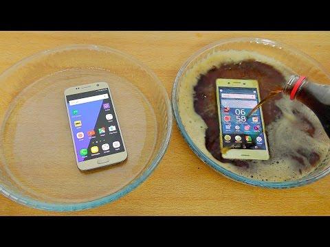 Sony Xperia X Vs Samsung Galaxy S7 Coca-Cola Test! Will It Survive?