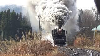 磐越西線 C57-180(門デフ仕様)牽引12系客車 SLクリスマストレイン 鹿瀬→日出谷にて