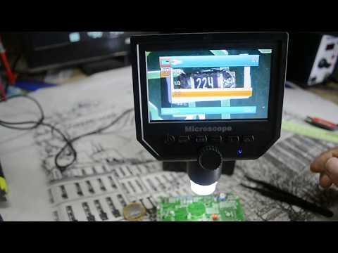 👍Цифровой Микроскоп G600 C LCD экраном 1-600x 3.6MP.Распаковка и тестирование