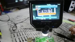 цифровой Микроскоп G600 c LCD экраном 1-600x 3.6MP.Распаковка и тестирование
