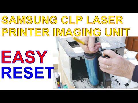 Samsung CLP Laser Printer Imaging Unit Drum Reset
