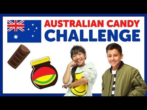 Australian Candy Challenge with Freddy & Julianna from The KIDZ BOP Kids