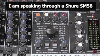 How to use a mixer's internal effects processor