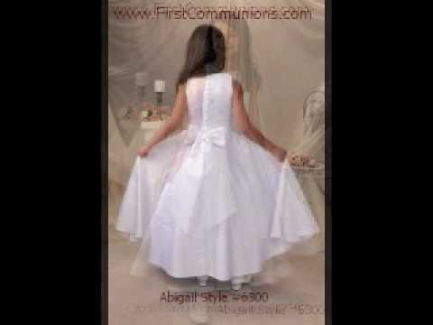 First Holy Communion Dresses Part 1 (A-K) Christian Expressions LLC