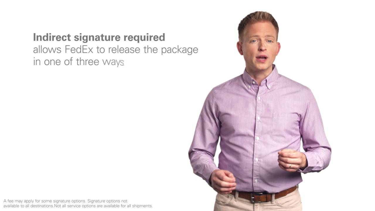 Fedex Delivery Signature Youtube