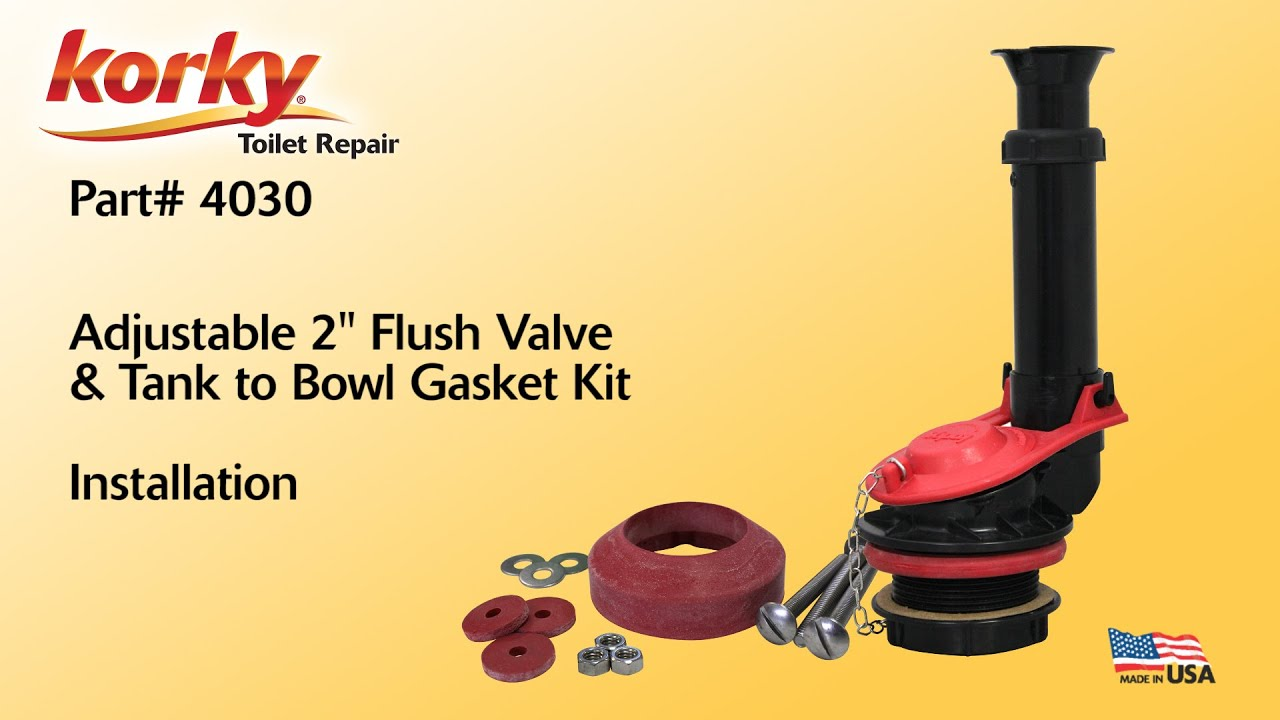 korky adjustable toilet flapper. 2  Flush Valve And Gasket Kit Installation By Korky Toilet Repair YouTube