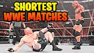 10 Shortest Matches In WWE Wrestling History!